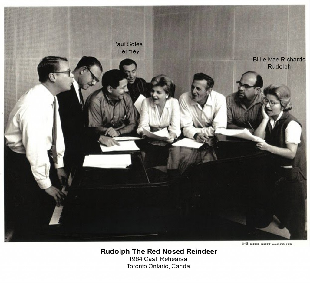 Rudolph The Red Nosed Reindeer 1964 Cast Photo