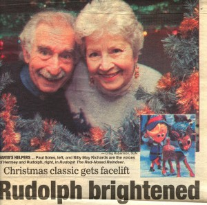 My Mom (Rudolph) and Paul Soles (Hermey)